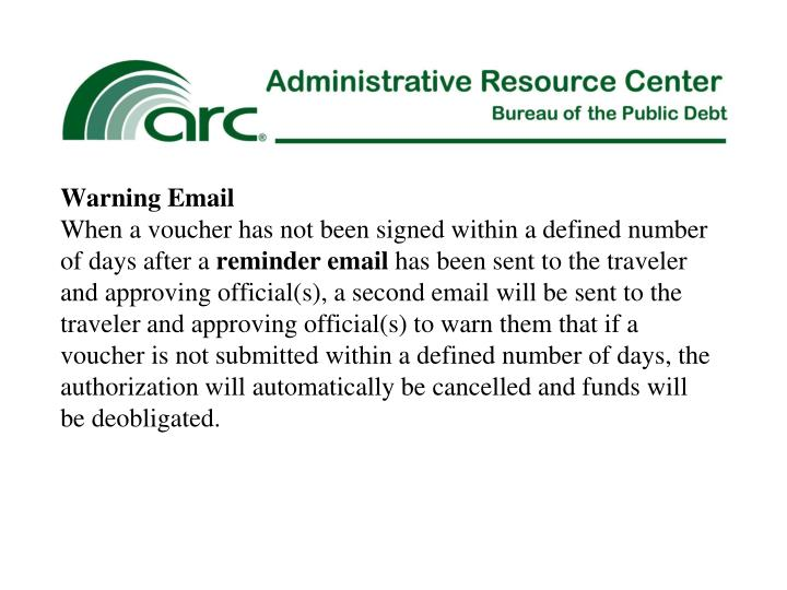 Warning Email