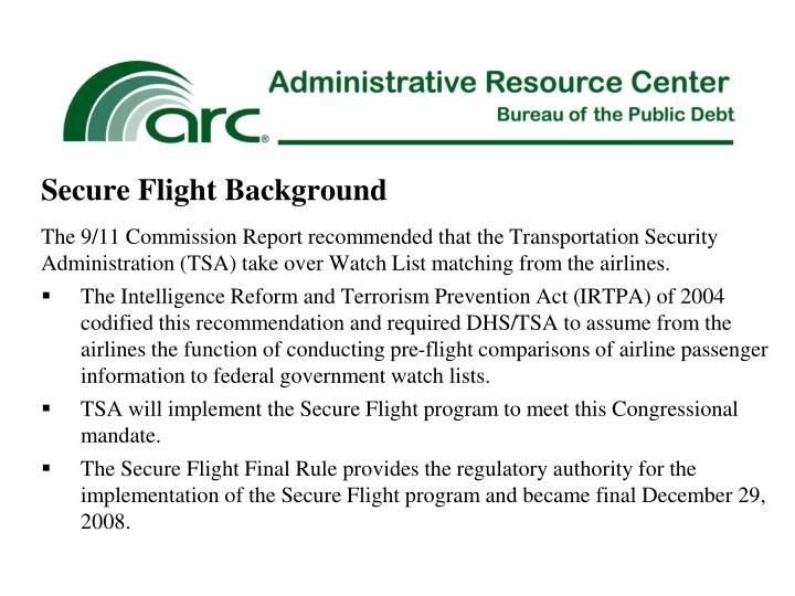 Secure Flight Background