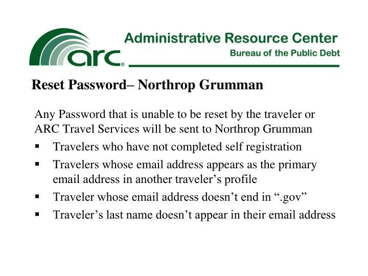 Reset Password– Northrop Grumman