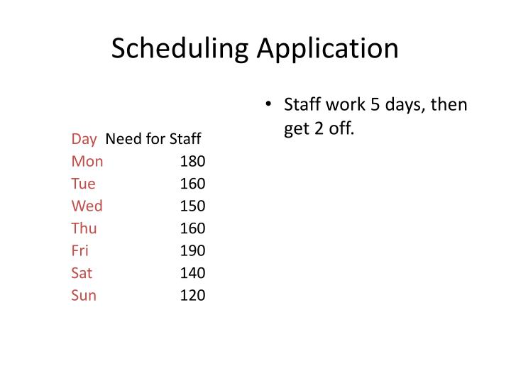 Scheduling Application