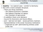 consultative bodies in european countries4