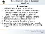 consultative bodies in european countries7