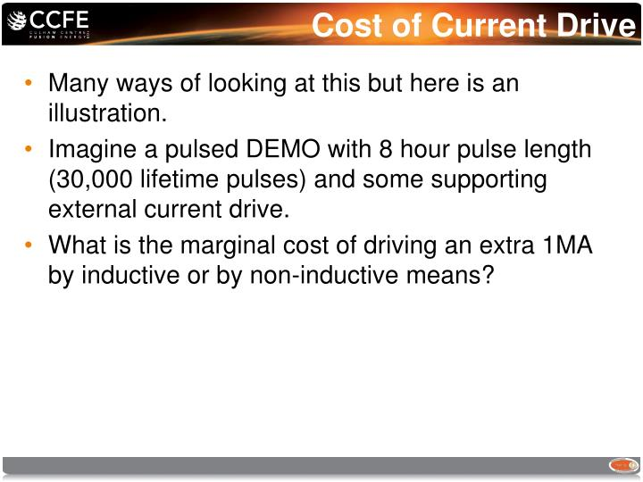 Cost of Current Drive