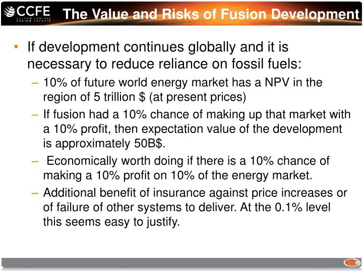 The Value and Risks of Fusion Development