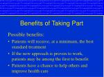benefits of taking part