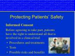 protecting patients safety