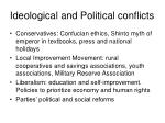 ideological and political conflicts