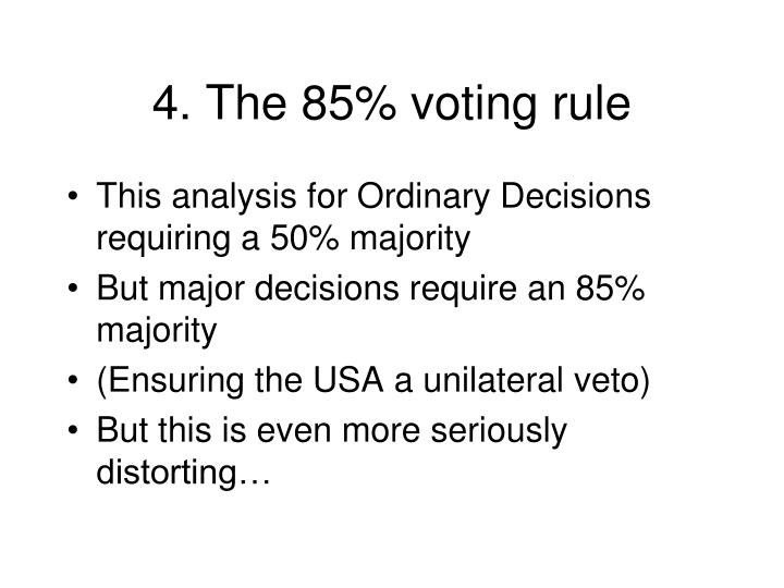 4. The 85% voting rule