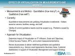 effect of virtualization on measurements and metrics
