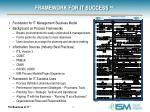 framework for it success