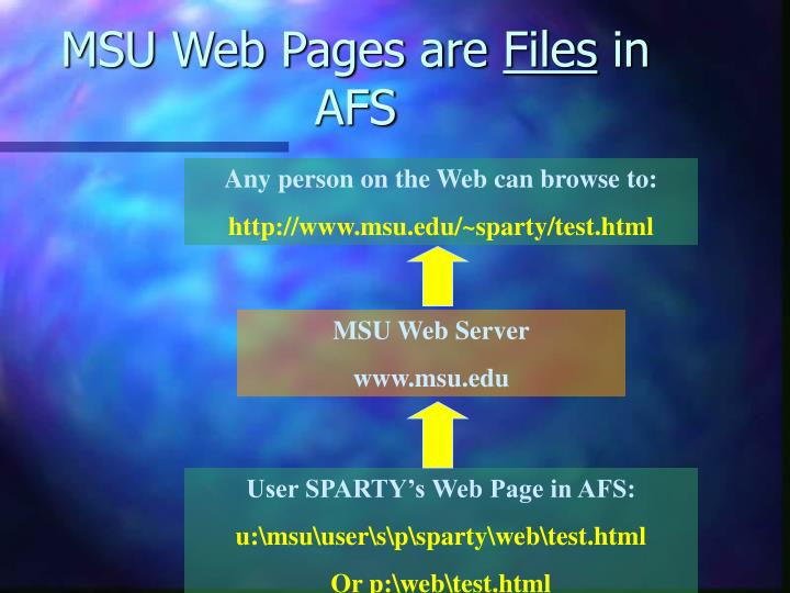 MSU Web Pages are