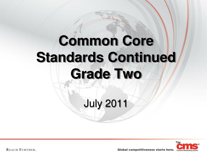 Common core standards continued grade two