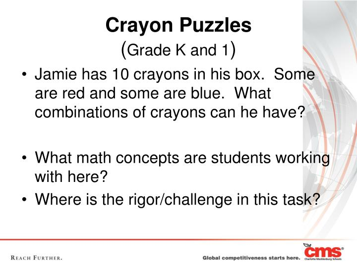 Jamie has 10 crayons in his box.  Some are red and some are blue.  What combinations of crayons can he have?