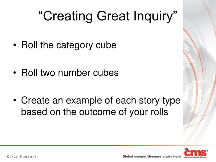 """Creating Great Inquiry"""