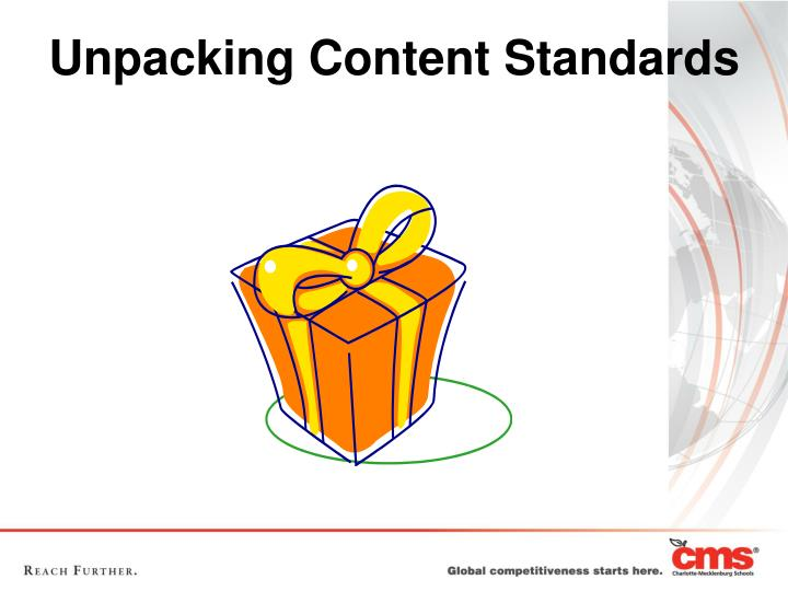 Unpacking Content Standards