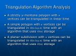 triangulation algorithm analysis