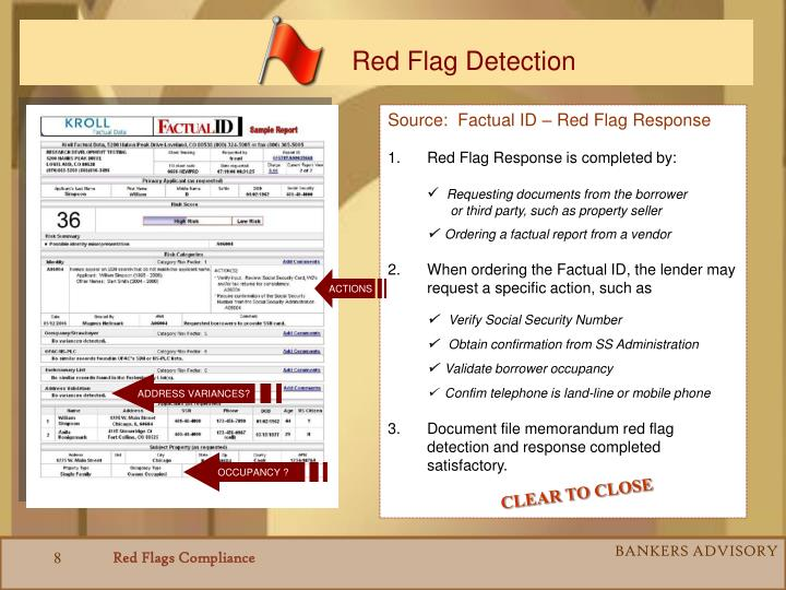 Red Flag Detection