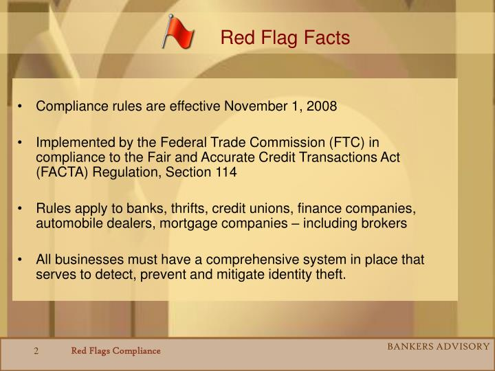 Red Flag Facts
