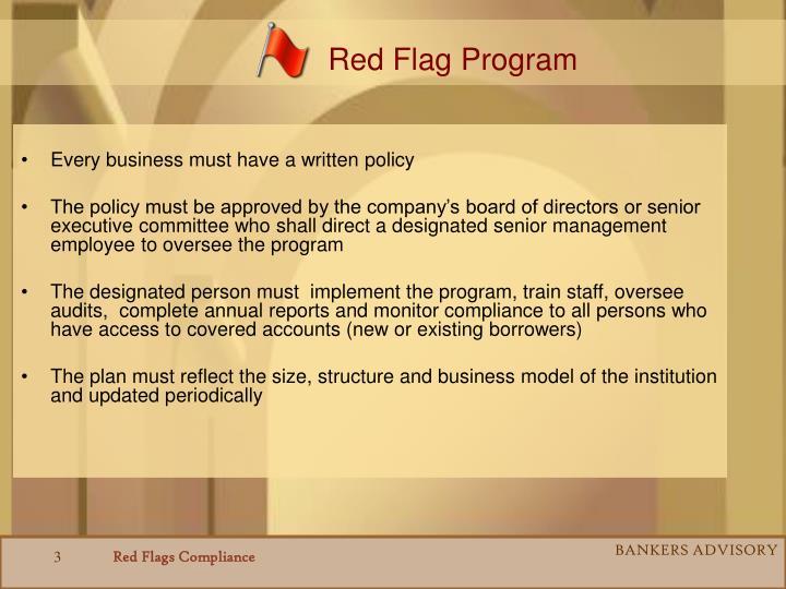 Red Flag Program