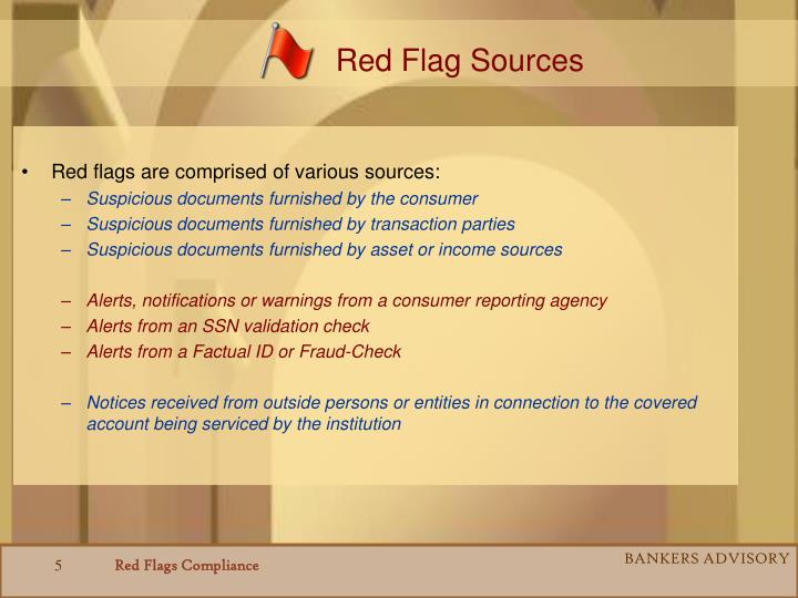 Red Flag Sources