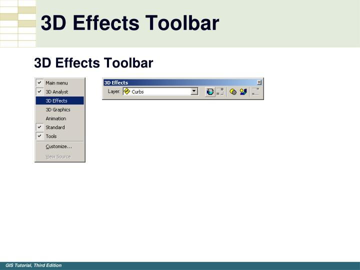 3D Effects Toolbar