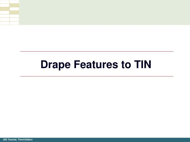 Drape Features to TIN