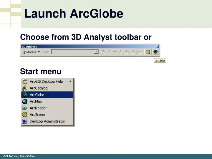 Launch ArcGlobe