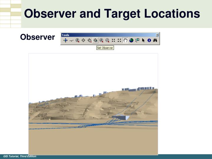 Observer and Target Locations