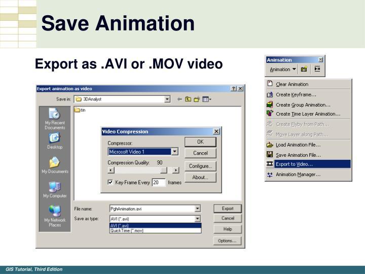 Save Animation