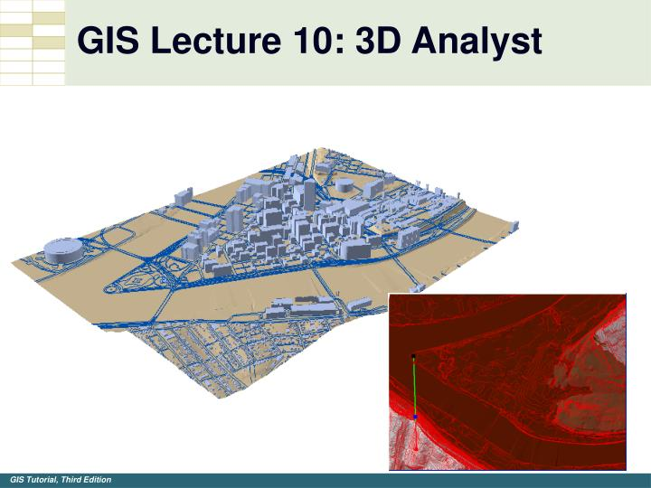 GIS Lecture 10: 3D Analyst