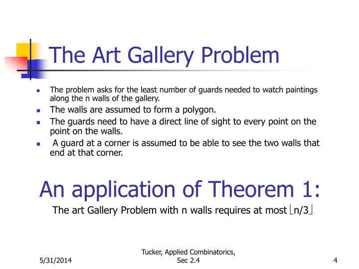 The Art Gallery Problem