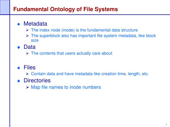 Fundamental ontology of file systems