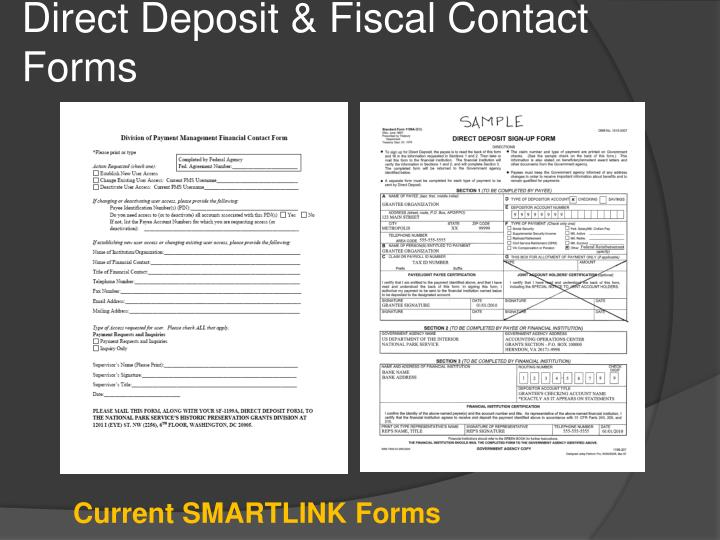 Direct Deposit & Fiscal Contact Forms
