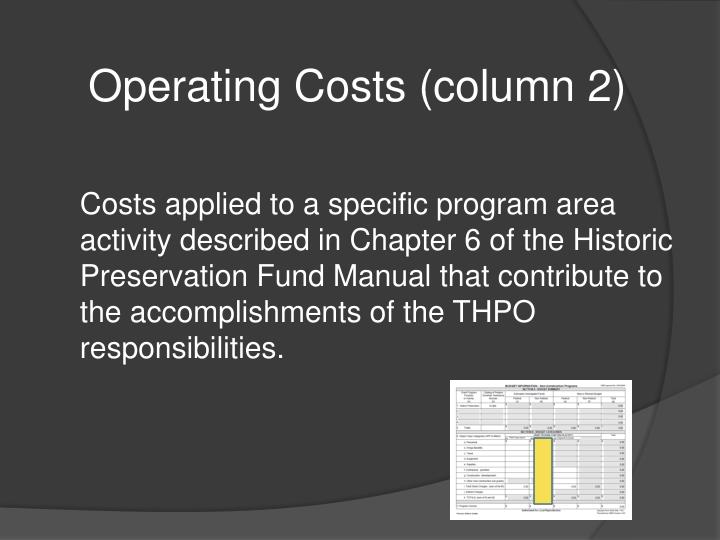 Operating Costs (column 2)