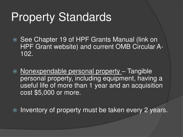 Property Standards