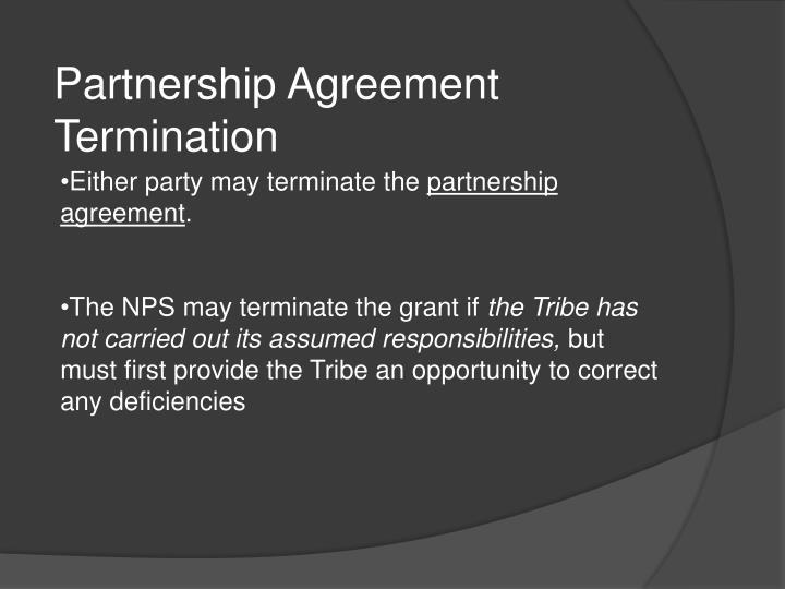 Partnership Agreement Termination
