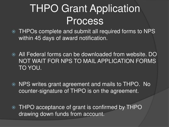 THPO Grant Application Process