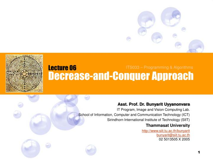 decrease and conquer approach n.
