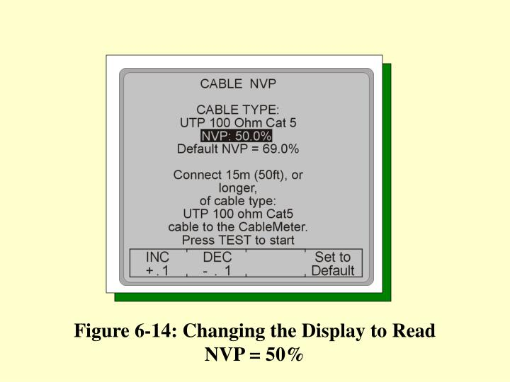 Figure 6-14: Changing the Display to Read