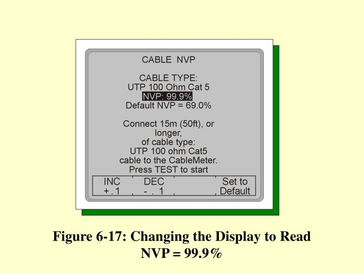 Figure 6-17: Changing the Display to Read