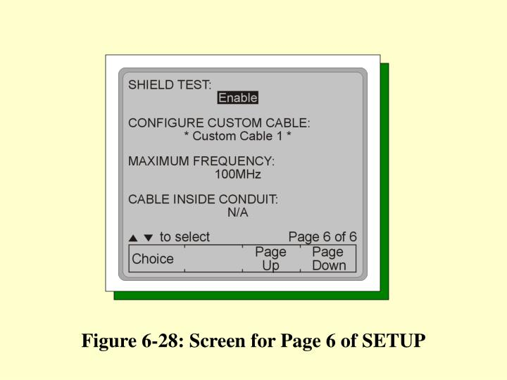 Figure 6-28: Screen for Page 6 of SETUP