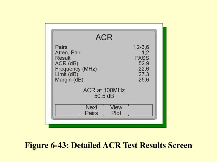 Figure 6-43: Detailed ACR Test Results Screen