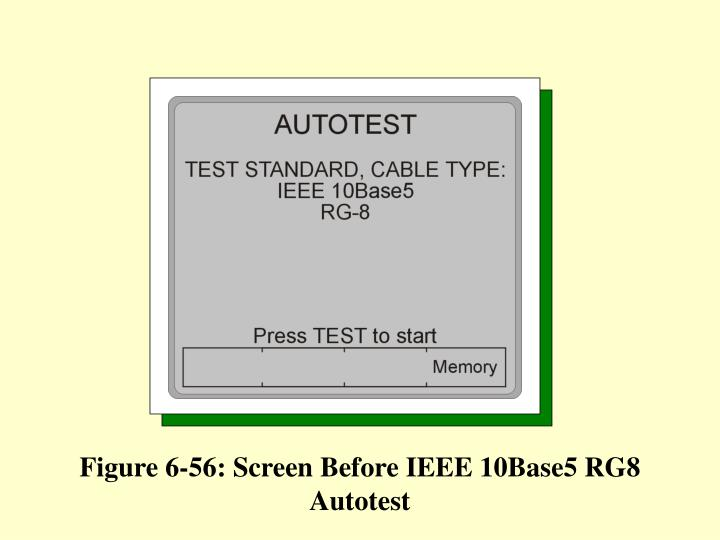 Figure 6-56: Screen Before IEEE 10Base5 RG8 Autotest