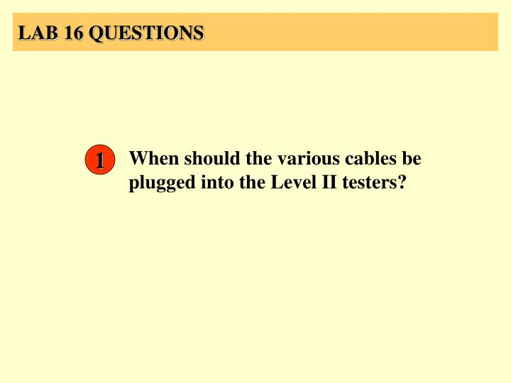 LAB 16 QUESTIONS