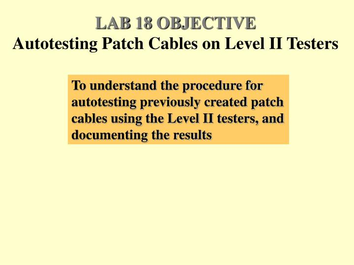 LAB 18 OBJECTIVE