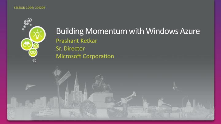 building momentum with windows azure n.