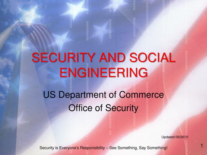 Security and social engineering