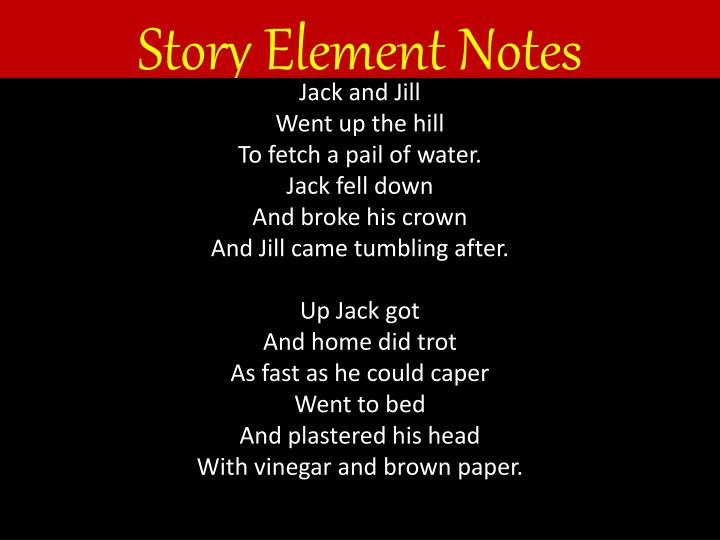 Story element notes
