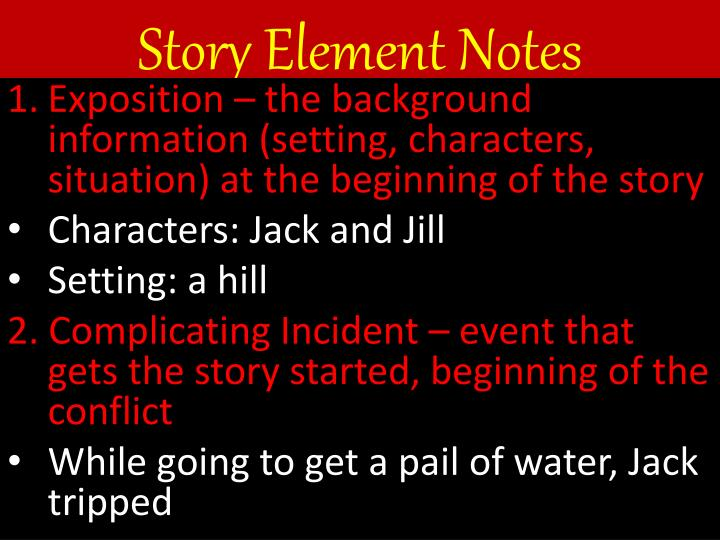 Story element notes1