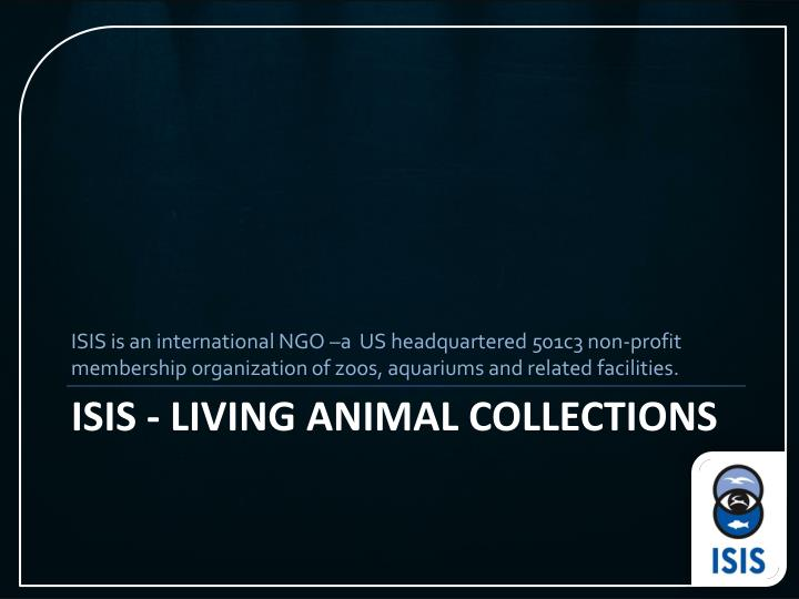 Isis living animal collections